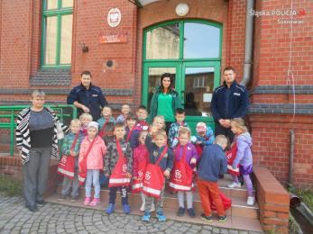 Przedszkolaki w Komisariacie Policji II w Sosnowcu