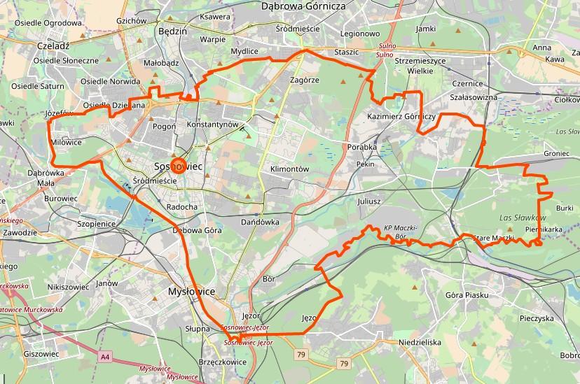 Sosnowiec - plan miasta