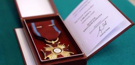 Złoty Krzyż Zasługi dla Leszka Chłosty