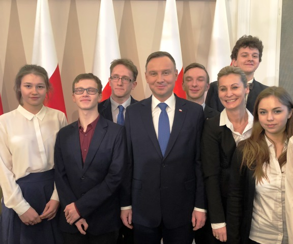 Lekcja historii w towarzystwie Prezydenta Andrzeja Dudy