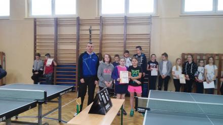 Kolejny sukces SP 13 w tenisie stołowym