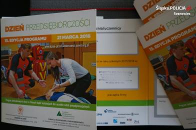 """""""Dzień przedsiębiorczości"""" w sosnowieckiej komendzie"""