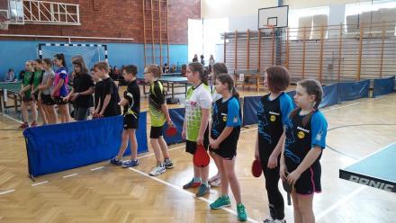 Sukces dziewcząt z SP nr 13 w tenisie stołowym
