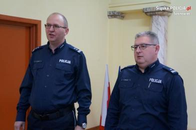 Uroczyste pożegnanie Zastępcy Komendanta Miejskiego Policji w Sosnowcu