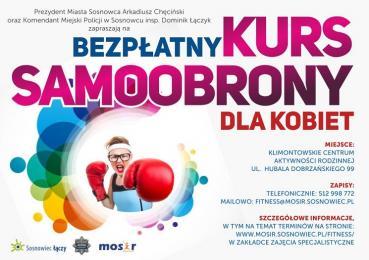 Bezpłatny kurs samoobrony w Sosnowcu