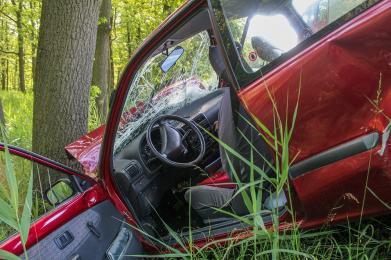 Mapa wypadków drogowych ze skutkiem śmiertelnym - wakacje 2019