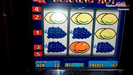 Sosnowiec: Nielegalne automaty do gier zabezpieczone