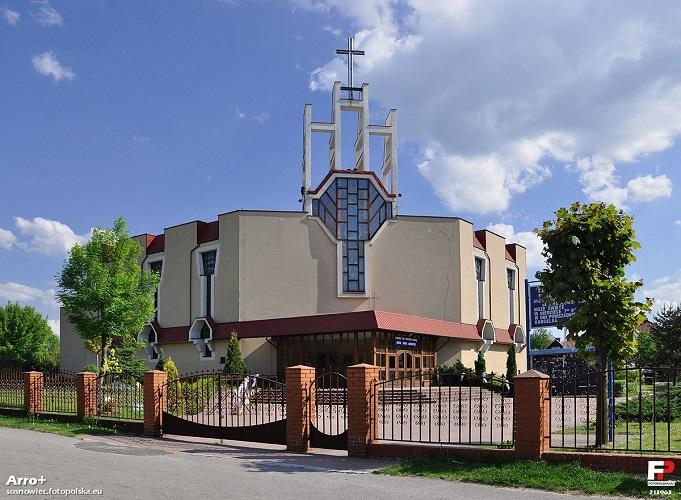 Parafia Klimontów - Kościół pw. Najświętszej Maryi Panny Różańcowej